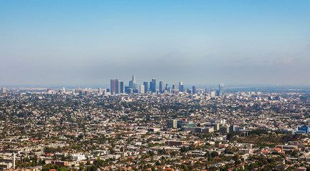 The city of Los Angeles from Griffith Park Observatory