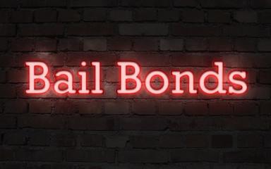 Neon bail bonds sign