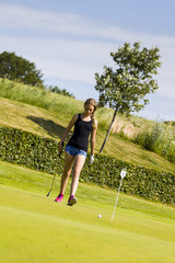 Girl on the Golf Course