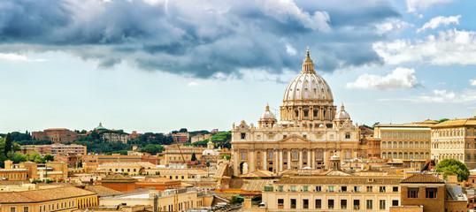 Deurstickers Rome Rome cityscape, Basilica of St. Peter
