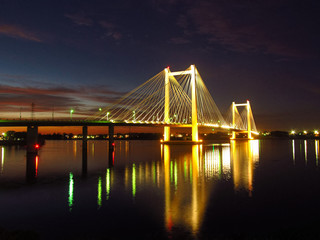 Canvas Prints Bridge Cable Bridge