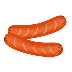 sausage isolated illustration