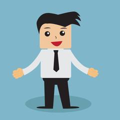 Business man cartoon vector.