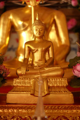 close-up gold buddha / thailand