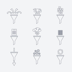 Vector filter line icons