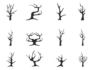 black dead tree icons