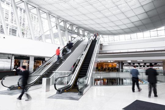 bokeh background of modern asia  shopping mall