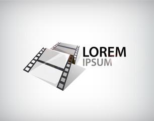 Vector 3d film strip, tape logo
