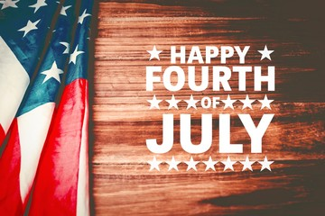 Foto op Canvas Vintage Poster Composite image of happy fourth of july