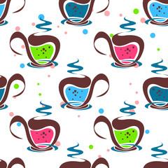 tea light seamless pattern