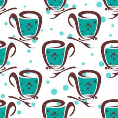 tea seamless pattern