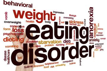 Eating disorder word cloud