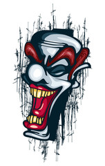 Smile Clown Tattoo Vector
