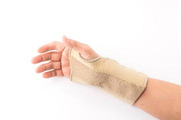bandage on human injury hand