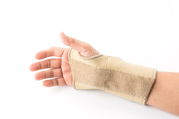 bandage on human injury hand