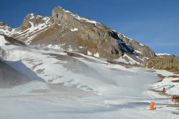 Formigal ski resort at the beginning