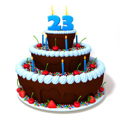 Birthday cake with number twenty three
