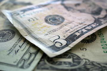 Money close up stock photo