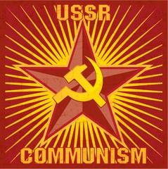 USSR-COMMUNISM retro poster - SSSR Soviet Union