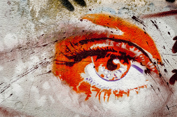 Lamas personalizadas con motivos artísticos con tu foto Graffiti oeil