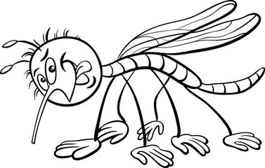 mosquito character coloring book