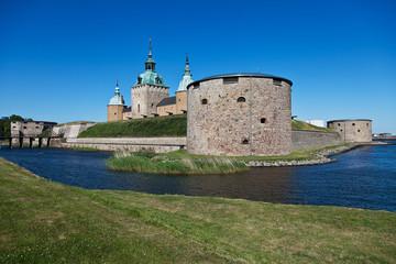 Schloss Kalmar mit Burggraben