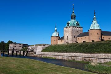 Schloss Kalmar mit Wassergraben