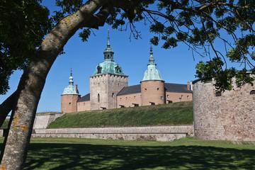 Schloss Kalmar mit Kanonen