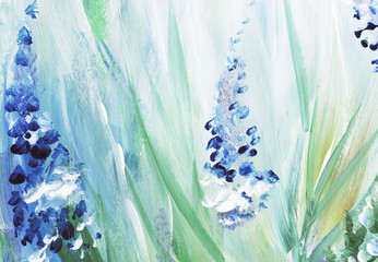 Abstract watercolor painting. Floral background