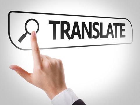 Translate written in search bar on virtual screen