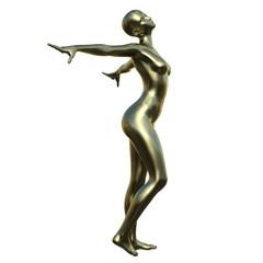 女性の彫刻