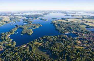 Foto op Canvas Luchtfoto Aerial view of Mazury