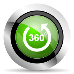 panorama icon, green button
