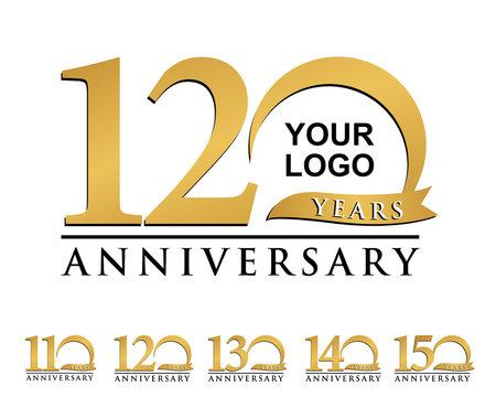 anniversary element gold logo 110-150