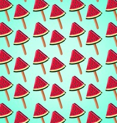 pattern of slices of watermelon