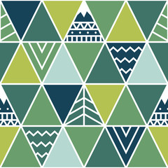Seamless pattern in ethnic style. Abstract illustration. Vector background.