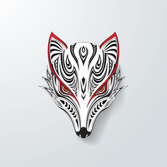 Tribal fox head illustration