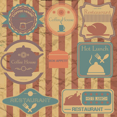 Set retro vintage badges, ribbons and labels hipster