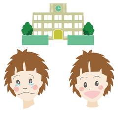 男の子、子供、人物、顔、学校、