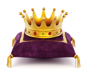 Gold Crown on the pillow