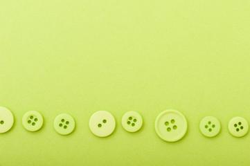 裁縫のボタン,黄緑色