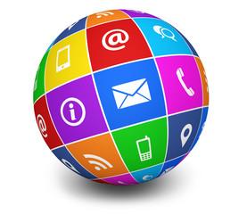 Contact Us Icons Web Globe
