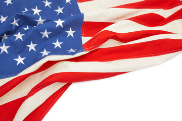 Studio shot of USA flag with place for your text