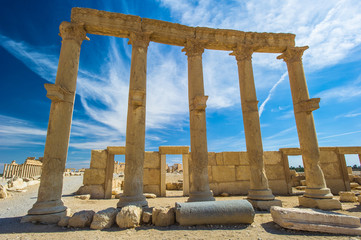 Roman ruins of Palmyra, Syria. UNESCO World Heritage