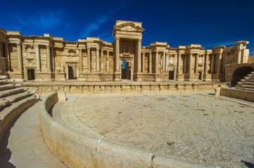 Roman theater ruins in Palmyra, Syria