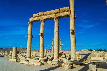 Roman ruins of the UNESCO world heritage Palmyra, Syria