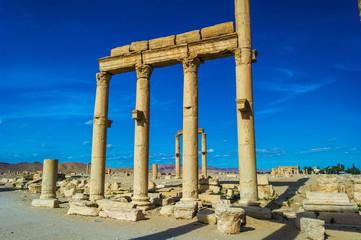 Roman ruins of the UNESCO world heritage Palmyra, Syria