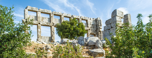 Ancient ruins of Syria.