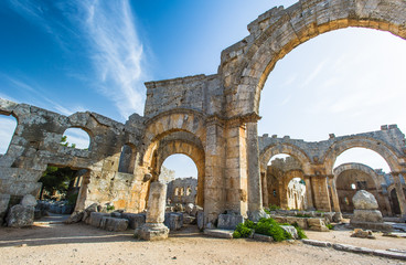 Ruins of the ancient castle of Syria.