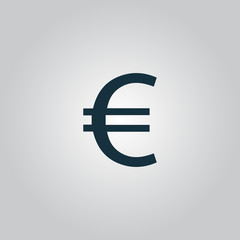 Euro flat icon. Vector illustration.